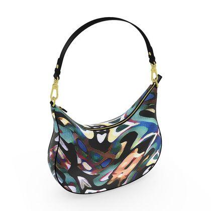 Curve Hobo Bag - Graphic Twist