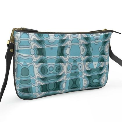 Pochette Double Zip Bag - Gloopy Blue