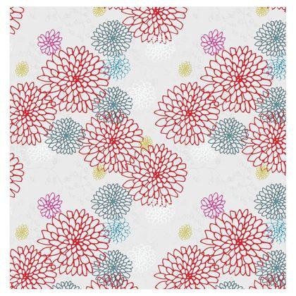 Chrysanthemum Luxury Collection (White/Large) - Fabric Printing