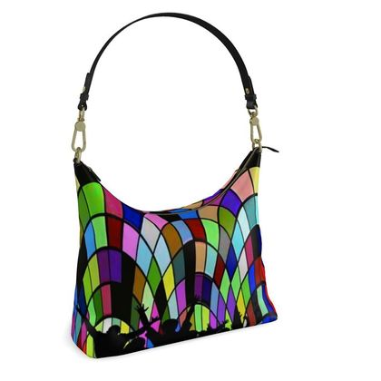 Square Hobo Bag -  Cathedral Party Night
