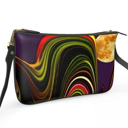 Pochette Double Zip Bag - Agate Moon