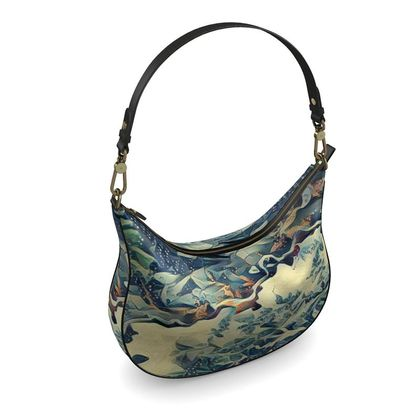 Curve Hobo Bag - Glacier Abstract Art
