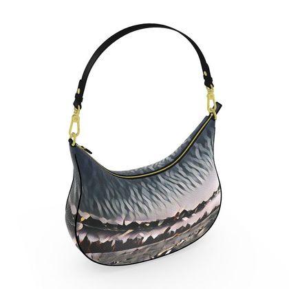Curve Hobo Bag - New Horizons Abstract Art