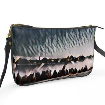 Pochette Double Zip Bag - New Horizons Abstract Art