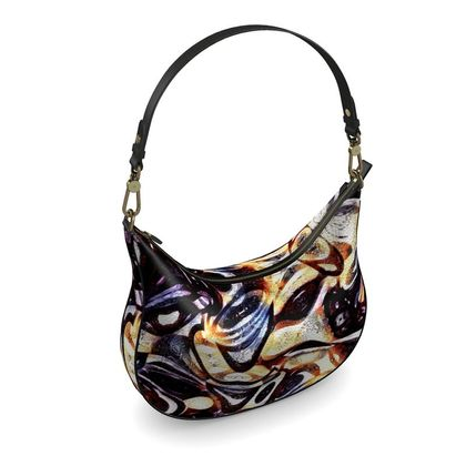 Curve Hobo Bag - The Unseen - Abstract Art