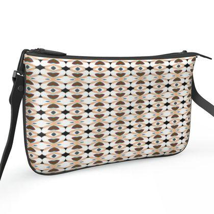 Pochette Double Zip Bag - Elegant Heart
