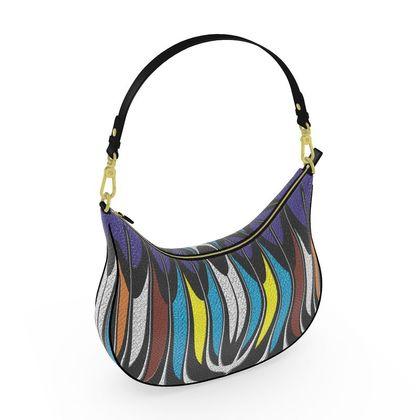 Curve Hobo Bag - The Rake - Abstract Art