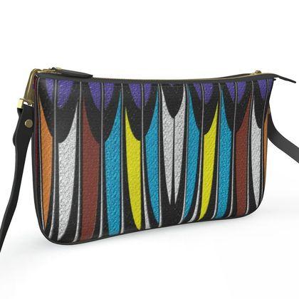 Pochette Double Zip Bag - The Rake - Abstract Art