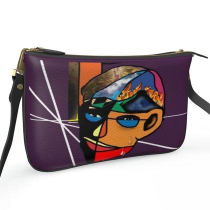 Pochette Double Zip Bag - Facets Of Man