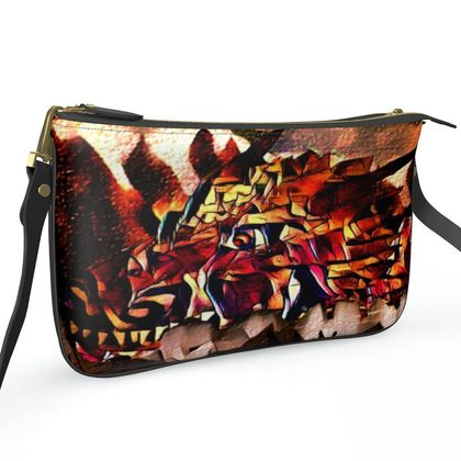 Pochette Double Zip Bag - First There Were Dragons
