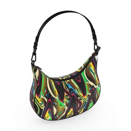 Curve Hobo Bag - Abstract Warrior