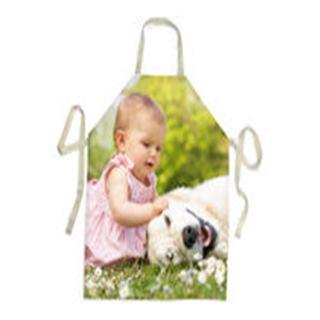 Foto Schürze mit Kind und Hund