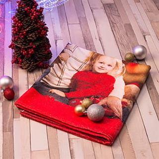 Badetuch gestaltet mit Foto Kind und Großeltern