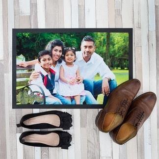 Paillasson personnalisé avec photo de famille