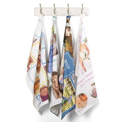 Personalised photo print tea towel