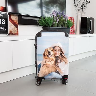Personalised suitcase custom printed
