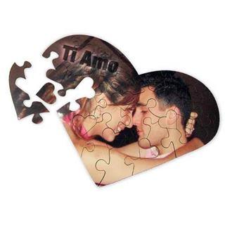 Puzzle cuore personalizzato san valentino