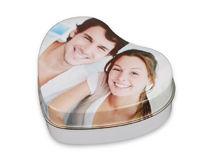 Caja con forma de corazón personalizada