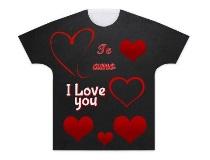 Camiseta I love you para san valentin