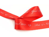 Christmas gift ribbon for personalised Christmas decorations