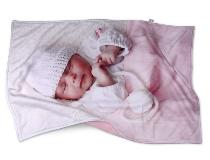 copertina in pile personalizzata per neonato