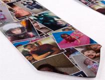 corbata con collage