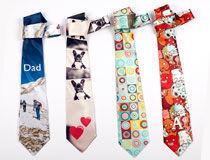 Cravate personnalisée cadeau de Noël pour papa