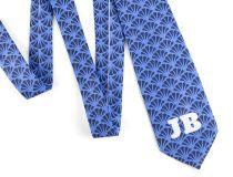 cravatta personalizzata iniziali
