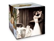 Cubo con foto regali matrimonio