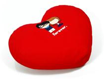 Cuscino a forma di cuore personalizzato