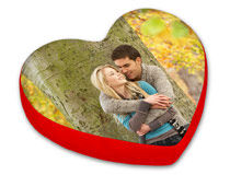 Custom Photo Heart Cushion