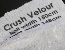 Custom Printed Crushed Velour