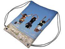 Turnbeutel bedrucken mit Mädchen am Strand