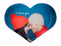 Foto vassoio personalizzato a forma di cuore