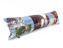 Fotomontaggio su cuscino lungo