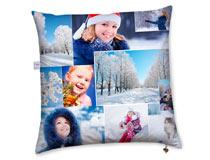 cuscino con foto collage