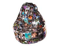 Fotomontaggio su pouf poltrona