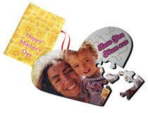 Herzpuzzle mit Foto als Überraschung für Mütter