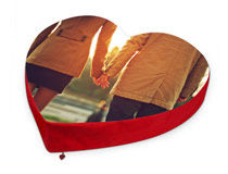 Huge Photo Heart Cushion
