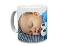 Kaffeebecher bedrucken mit Foto mit Bild eines Maedchen am Meer