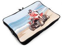 Laptoptasche selbst gestalten Meer und Quad mit Vater und Kind