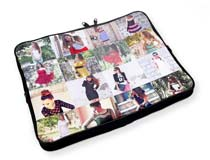 Laptoptasche mit Collage