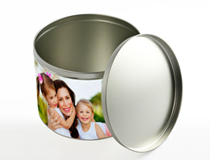 Large Photo Round Tin