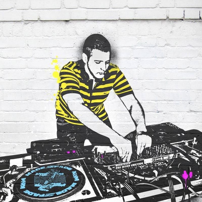 Leinwand Pop Art Banksy DJ
