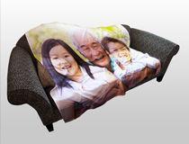 Manta para sofá personalizada con fotos