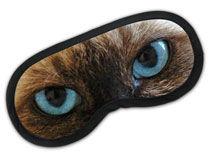 Personalisierte Schlafmaske mit Foto Katzenaugen