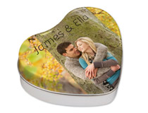Personalized Heart Shaped Gift Tins