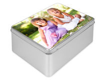 Personalized Photo Cookie Tins