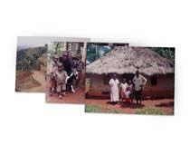 Photos transférées sur cadre en bois