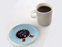 piattini da caffe e sottobicchieri rotondi personalizzati
